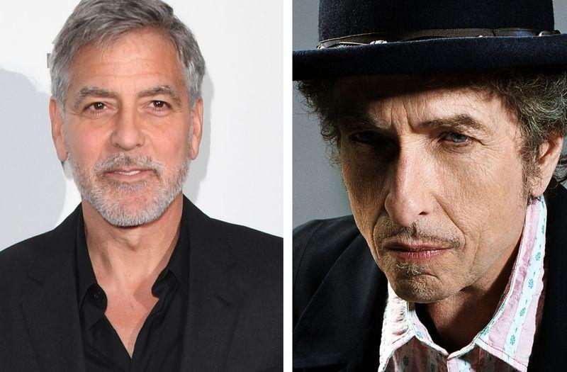 """George Clooney (links) und Bob Dylan arbeiten derzeit an einer Verfilmung des Romans """"Calico Joe"""" von John Grisham."""