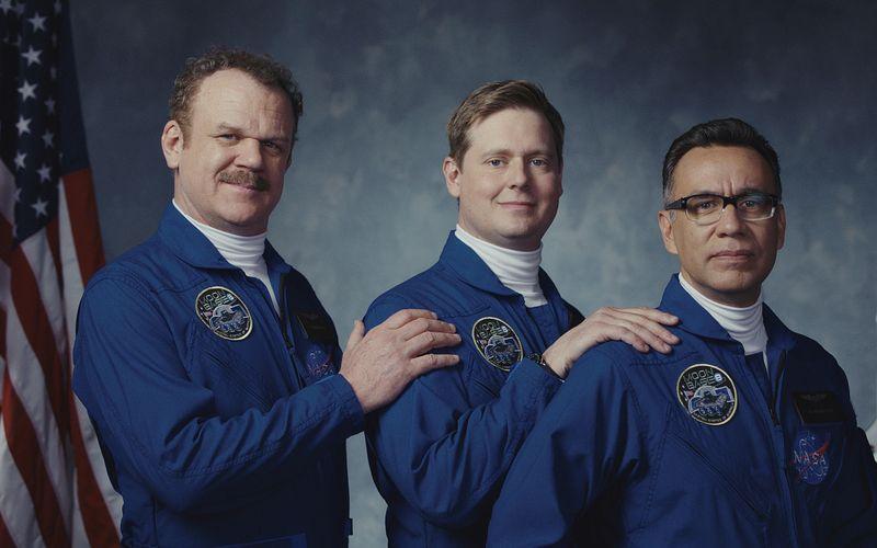 Wollen hoch hinaus, kommen aber nicht vom Fleck: Cap (John C. Reilly, links), Rook (Tim Heidecker, Mitte) und Skip (Fred Armisen).