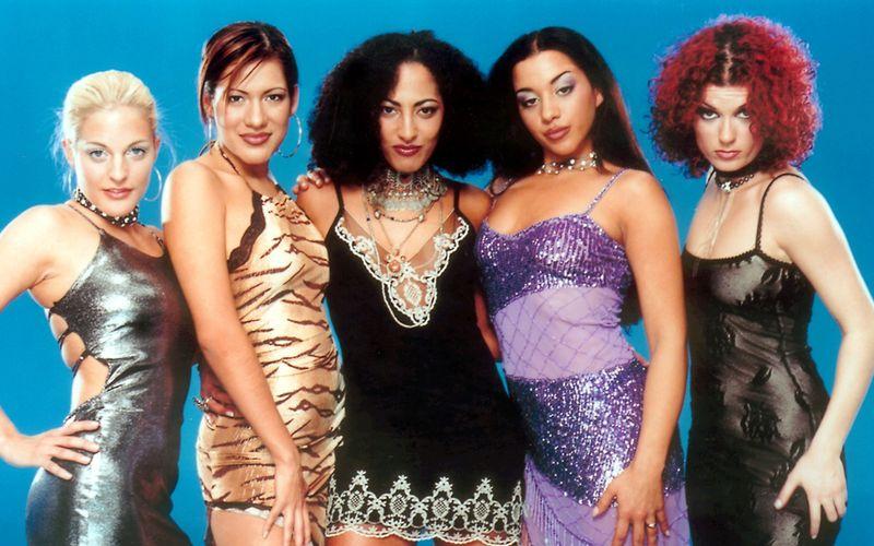In den 2000-ern waren die No Angels Deutschlands erfolgreichste Girlband, von links: Sandy Mölling, Vanessa Petruo, Jessica Wahls, Nadja Benaissa und Lucy Diakovska.