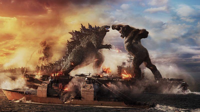 """""""Godzilla vs. Kong"""" war am ersten Wochenende nach dem Kino-Lockdown der zuschauerstärkste Film in Deutschland."""