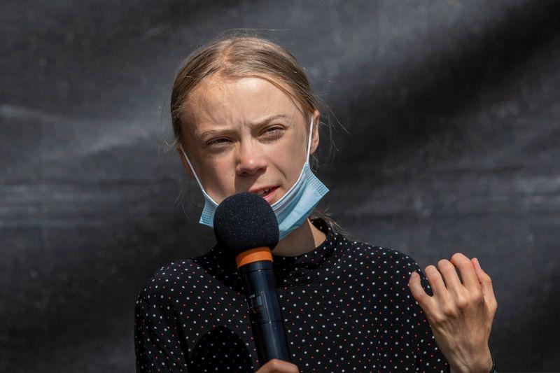 Greta Thunberg (hier beim Treffen mit Bundeskanzlerin Angela Merkel im August 2020) richtete sich mit einem Redebeitrag an die Mächtigen der Welt.