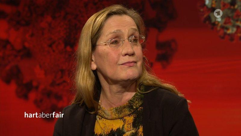 """""""Wenn man immer hadert, ist das sicher nicht gut für die Psyche"""", erklärte Monika Sieverding in der jüngsten Ausgabe der ARD-Talkshow """"Hart aber fair""""."""