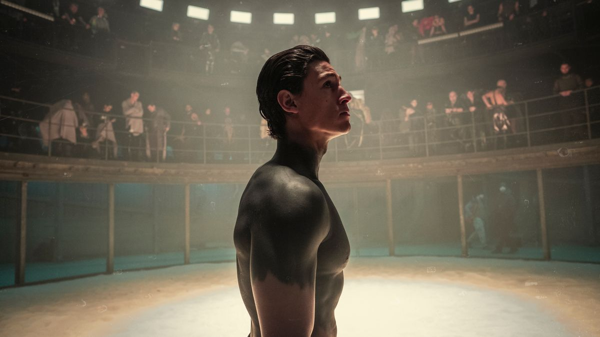 """Der gut gebaute Origine Kiano (Emilio Sakraya) ist in die Gefangenschaft der wilden Crows geraten - in der neuen dystopischen Netflixserie """"Tribes of Europa"""", die sich ziemlich viel Wahnsinn und Mut zur Unterhaltung traut. Fans tiefgründiger Sci-Fi-Stoffe werden jedoch abwinken."""