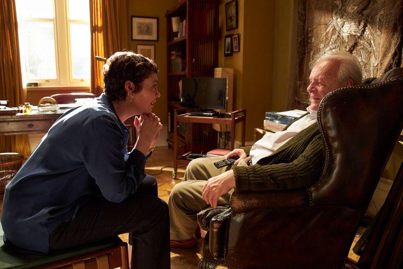 """Für seine Rolle als Demenzpatient in """"The Father"""" wurde Anthony Hopkins (im Bild mit Olivia Colman) als bester Hauptdarsteller ausgezeichnet."""
