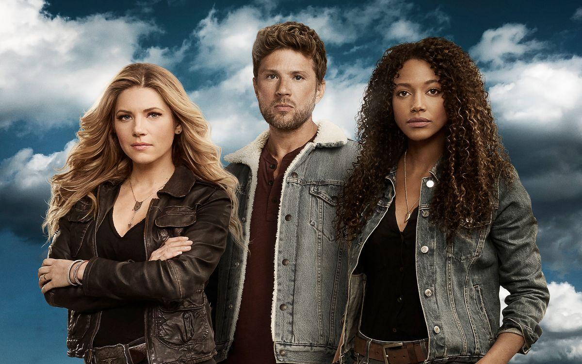 """In """"Big Sky"""" versuchen (von links) Jenny Hoyt (Katheryn Winnick), Cody Hoyt (Ryan Phillippe) und Cassie Dewell (Kylie Bunbury) das Verschwinden einiger junger Frauen aufzuklären."""