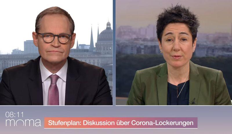 """SPD-Politiker Michael Müller stand Reporterin Dunja Hayali im """"ZDF-Morgenmagazin"""" Rede und Antwort zur schrittweisen Schulöffnung trotz schwieriger Corona-Lage."""