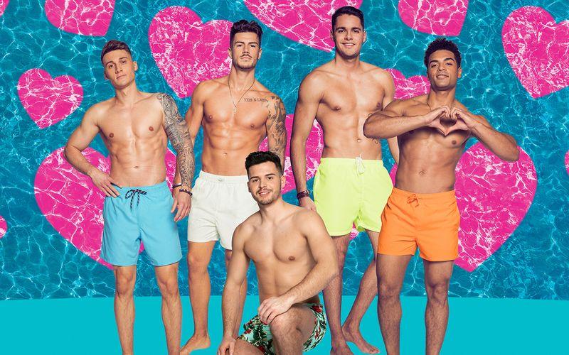"""Diese fünf Männer haben bei """"Love Island - Heiße Flirts und wahre Liebe"""" den Sieg vor Augen (von links): Fynn, Adriano, Dennis, Breno, Amadu."""