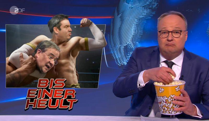 """""""Großartige TV-Unterhaltung"""": Oliver Welke von der """"heute-show"""" sieht den Machtkampf in der Union als """"Splatterfilm""""."""