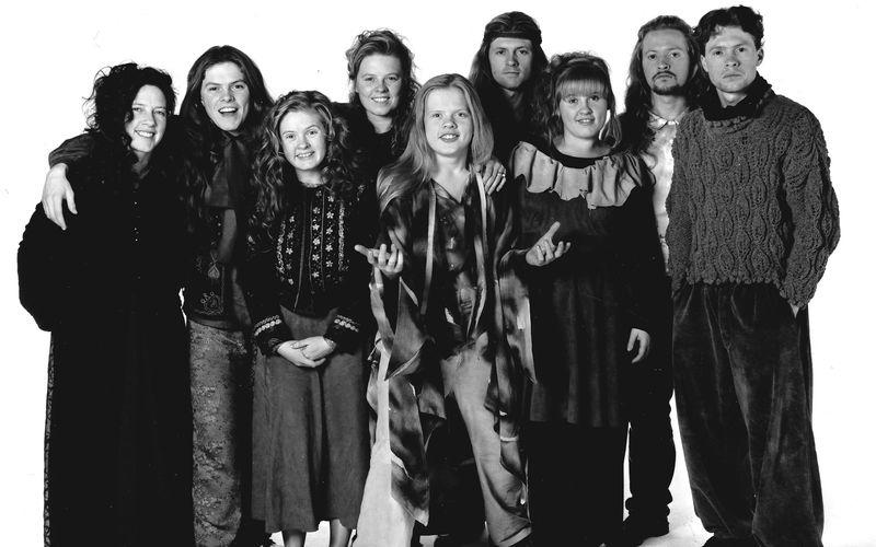 Die Kinder der Kelly Family (von links): Kathy, Paddy, Barby, Patricia, Angelo, Jimmy, Maite, Paul und Joey.