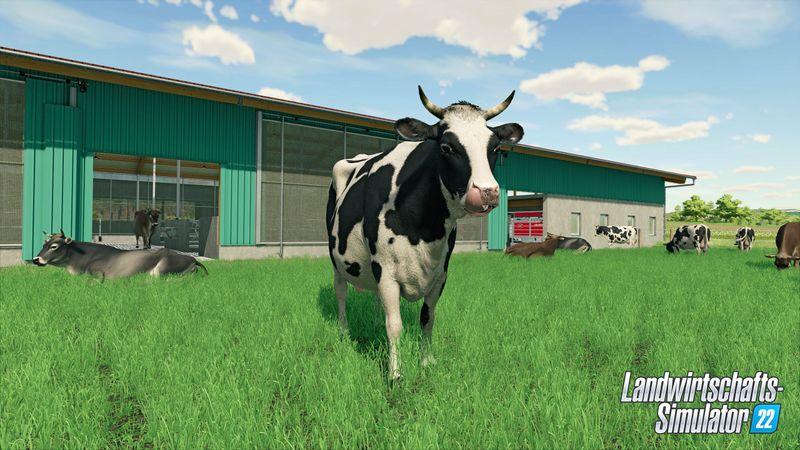 """Von wegen blöde Kuh! Im """"Landwirtschaftssimulator 22"""" ist intelligentes Wirtschaften gefragt."""