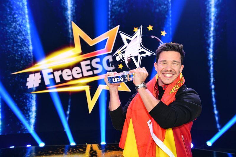 Darf natürlich nicht fehlen: Nico Stantos ging im Vorjahr als #FreeESC-Sieger vom Platz.