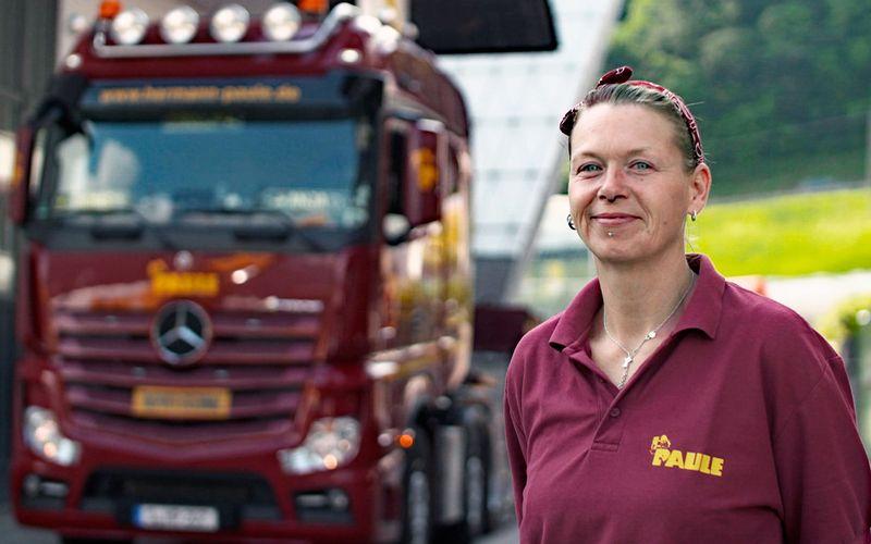 """""""Ich bin kein Trucker Babe"""", sagt Anja Bowens. """"Ich mag das nicht, wenn das jemand zu mir sagt""""."""