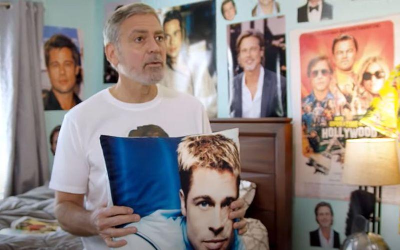 Für den guten Zweck: George Clooney zeigt in einem nicht ganz ernst gemeinten Video seine Verehrung von Brad Pitt ganz offen.