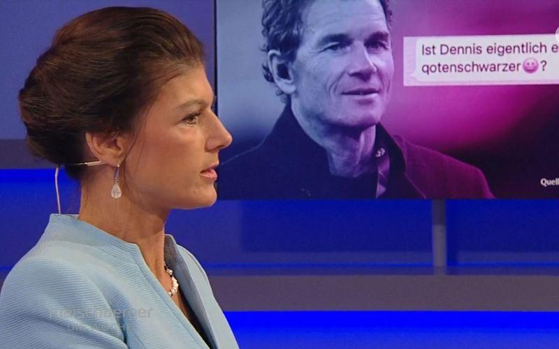 """Sahra Wagenknecht diskutierte bei """"maischberger. die woche"""" über vermeintliche falsche Prioritätensetzung innerhalb der deutschen Linken. Auch der Fall Jens Lehmann kam dabei zur Sprache."""