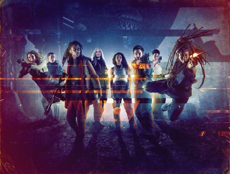 """Hier haben die Frauen das Sagen! In der neuen Serie """"Intergalactic"""" (ab 6. Mai auf Sky Ticket und Sky Atlantic) scheinen Schauspieler erstmals in der Unterzahl zu sein."""
