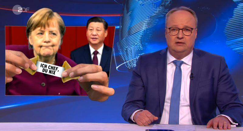 """Zum Handel mit China meinte Oliver Welke in der """"heute-show"""": """"Geld aus China ist wie eine Droge - und Deutschland ist der größte Junkie."""""""