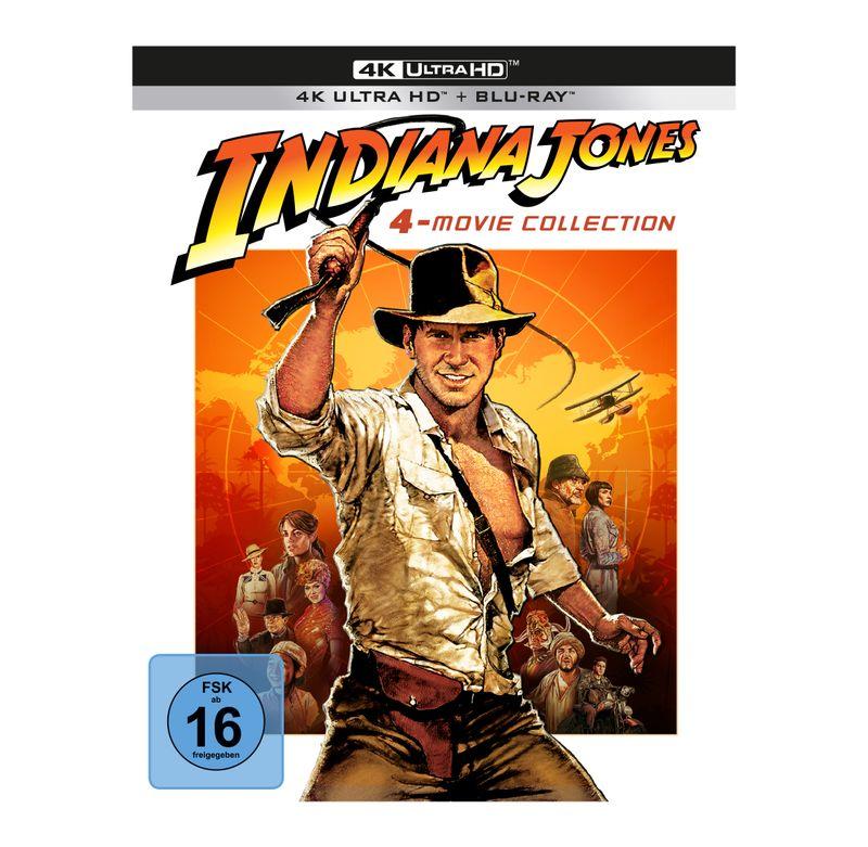 """40 Jahre nach Kinostart des ersten Films erscheint die Reihe """"Indiana Jones"""" erstmals in 4K Ultra HD."""