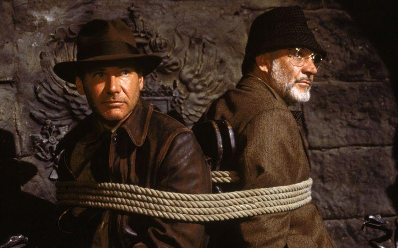 """Kaum hat Indiana (Harrison Ford, links) seinen Vater (Sean Connery) gefunden, geraten die beiden in """"Indiana Jones und der letzte Kreuzzug"""" in die Fänge der Nazis."""