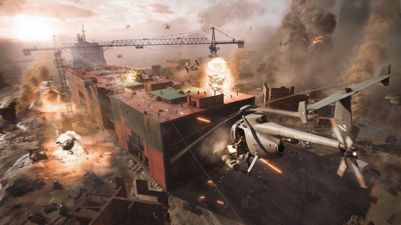 """Zu Lande, zu Wasser und in der Luft: In """"Battlefield 2042"""" geht es hoch her."""