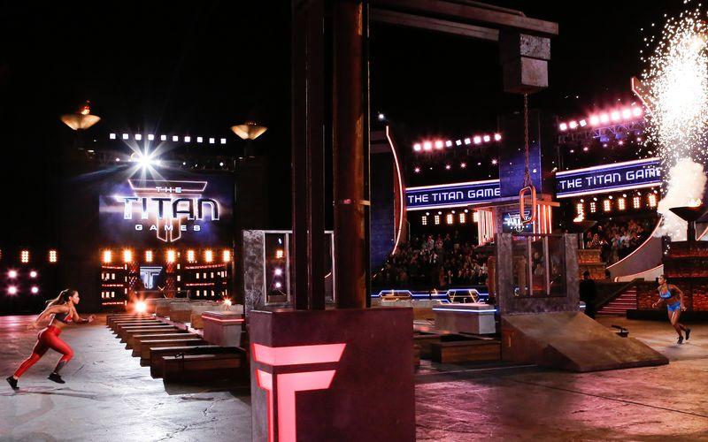 """Bis an die Belastungsgrenze: Bei der Sport-Wettkampf-Show """"The Titan Games"""" dürfen die Kandidatinnen und Kandidaten nicht zimperlich sein."""