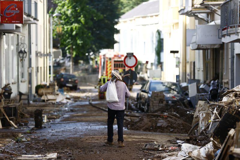 Die Stadt Bad Neuenahr in Rheinland-Pfalz wurde besonders schwer von der Flut getroffen.