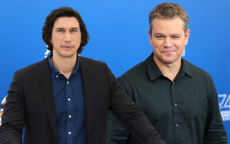 """Adam Driver (links) und Matt Damon spielen die Hauptrollen in """"The Last Duel""""."""