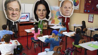 Kannste Kanzleramt? Baerbock, Laschet und Scholz zurück in der Schule