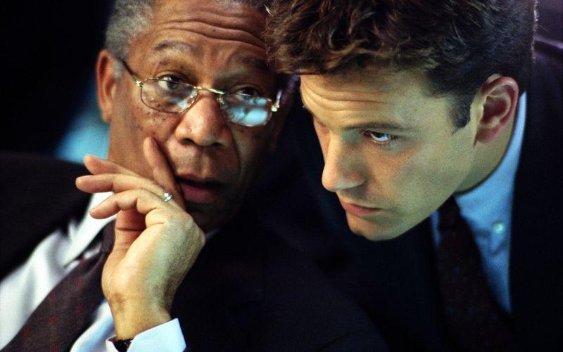 Nach einer Atomexplosion in Baltimore suchen der CIA-Chef Bill Cabot (Morgan Freeman, links) und sein Russland-Experte Jack Ryan (Ben Affleck) fieberhaft nach den Schuldigen.