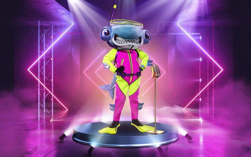 """Der Hammerhai ist die erste von insgesamt zehn Masken in der fünften Staffel von """"The Masked Singer""""."""