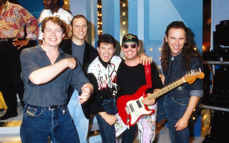 Frank Trojan (zweiter von links) war von 1977 bis 1992 Teil der Spider Murphy Gang.