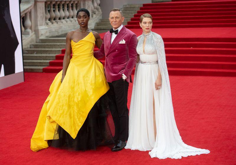 Daniel Craig und seine Co-Stars Lashana Lynch (links) und Léa Seydoux wussten auch modisch zu überzeugen.