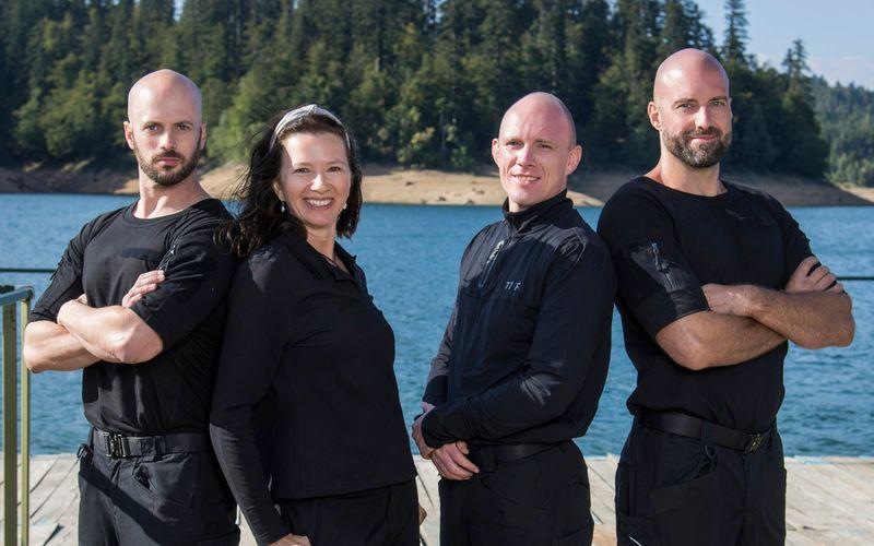 Die vier Coaches sollen die Promis unterstützugen und fordern, von links: Markus von Hauff, Nadja Petranovskaja, Felix Köster und Julien Kottysch.