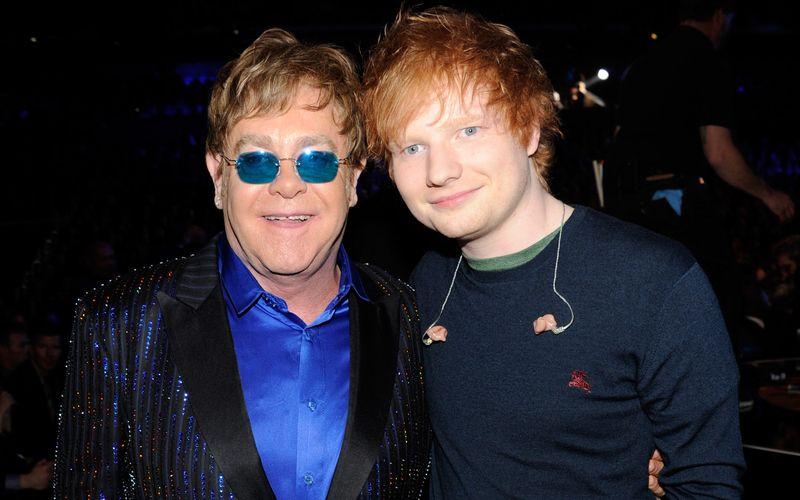 Britische Popstars unter sich: Ed Sheeran und Elton John werden einen gemeinsamen Weihnachtssong veröffentlichen.