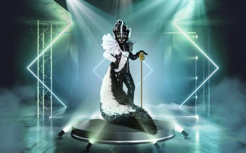 """Duftes Kostüm: Hinter dem Stinktier von """"The Masked Singer"""" steckt jedoch Schwerstarbeit."""